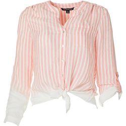 Zac & Rachel Petite Faded Stripe Button Down Shirt