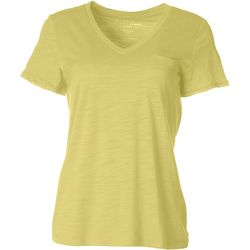 Dept 222 Petite Luxey V-Neck Chest Pocket T-Shirt