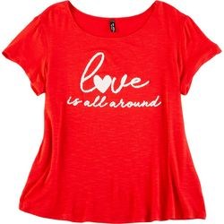 Ava James Petite Love Is All Around Short Sleeve Top