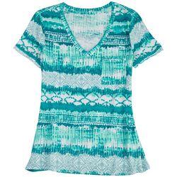 Dept 222 Petite Aruba V-Neck Summer T-Shirt