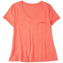 Dept 222 Petite Basic V-Neck T-Shirt