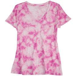 Petite Tie-Dye V-Neck Summer T-Shirt