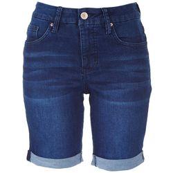 Royalty by YMI Petite Curvy Fit Denim Shorts