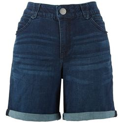 Royalty by YMI Petite Curvy Fit Recycled Denim Shorts