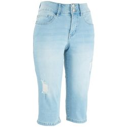 YMI Royalty Petite Signature Slim Stretchy Capris Jeans
