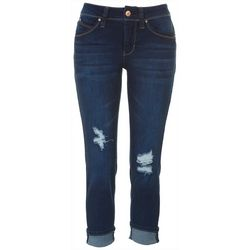 Royalty by YMI Petite Solid Cuff Jeans