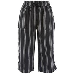 Royalty by YMI Petite Striped Beachy Cropped Pants