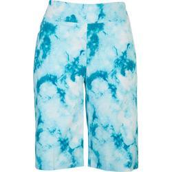 Petite Tie Dye Print Skimmer Shorts