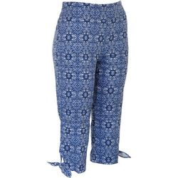 Counterparts Petite Pull On Floral Tile Capris
