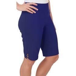 Petite  Ring Hem Skimmer Shorts