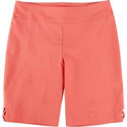 Counterparts Petite Solid Cross Hatch Hem Skimmer Shorts