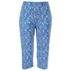 Counterparts Petite Pull-On All Over Printed Capris