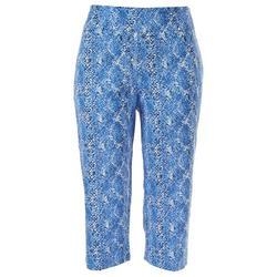 Petite Pull-On All Over Printed Capris