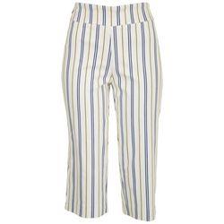 Counterparts Petite Striped Pull On Capris