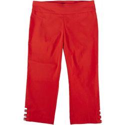 Counterparts Petite Pull-On Embellished Hem Pants