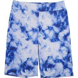 Counterparts Petite Tie Dye Print Skimmer Shorts