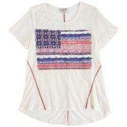 OneWorld Petite American Flag Printed Sleevless Top