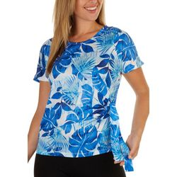 Coral Bay Petite Cool Foliage Short Sleeve Top
