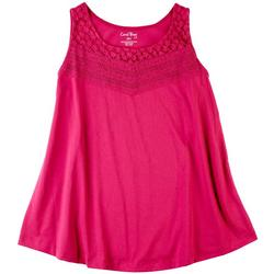 Petite Lace Front Detail Sleeveless Top