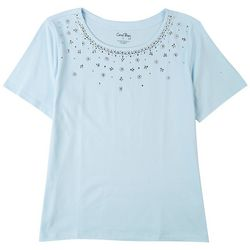 Coral Bay Petite Embellished Stones Top