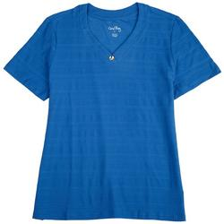 Petite Textured Solid Color Top
