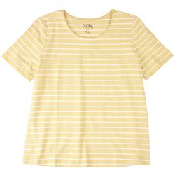 Coral Bay Petite Short Sleeve Striped Top
