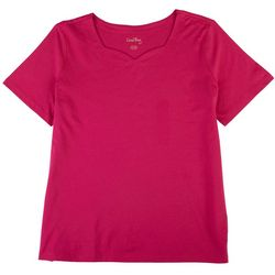 Coral Bay Petite Basic Everyday Solid Top