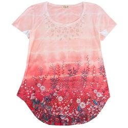 OneWorld Plus Embroidery Floral Top
