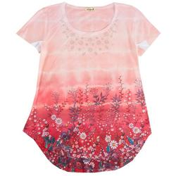 Plus Embroidery Floral Top