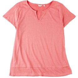 Coral Bay Plus Vibrant Short Sleeve Top