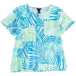 Plus Palm Patch Short Sleeve Top