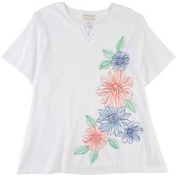 Plus Embroidered Printed Top