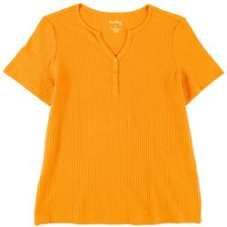 Coral Bay Plus Waffle Knit Henley