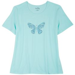 Coral Bay Plus Embellished Stones Butterfly Top