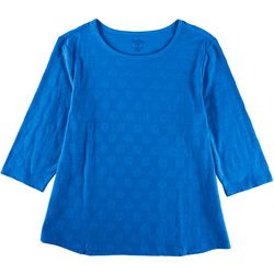Coral Bay Plus All-Over Polka Dot 3/4 Sleeve Top