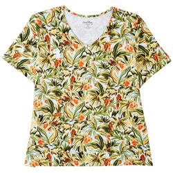 Coral Bay Plus 3 Button Tropical Short Sleeve