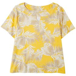 Coral Bay Plus Boat Neck Tropical Short Sleeve Top