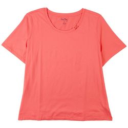 Coral Bay Plus The Casual Ring Neck Top