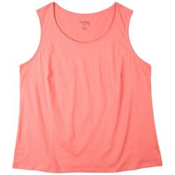 Coral Bay Plus Solid Jewel Sleeveless Top