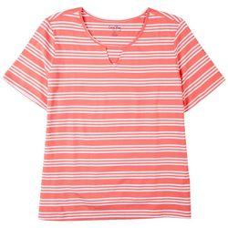 Coral Bay Plus Pink Stripes Top
