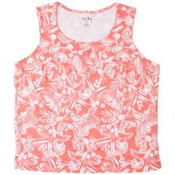 Coral Bay Plus Tropical Sleeveless Top