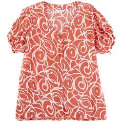 Coral Bay Plus Spiral Print Shirt