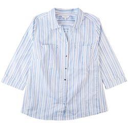 Coral Bay Plus Damask Button Down Shirt