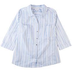 Plus Damask Button Down Shirt