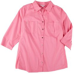 Coral Bay Plus Knit To Fit Button Down
