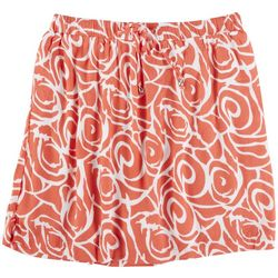 Coral Bay Plus Tropical Skirt With Tie