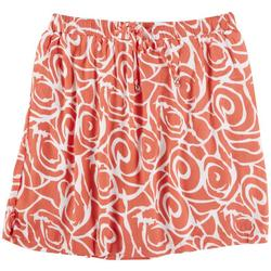 Plus Tropical Skirt With Tie