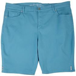 Plus Amanda Neptune Breeze Bermuda Shorts