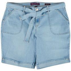 Gloria Vanderbilt Plus Belted Bermuda Shorts