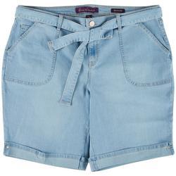 Plus Belted Bermuda Shorts